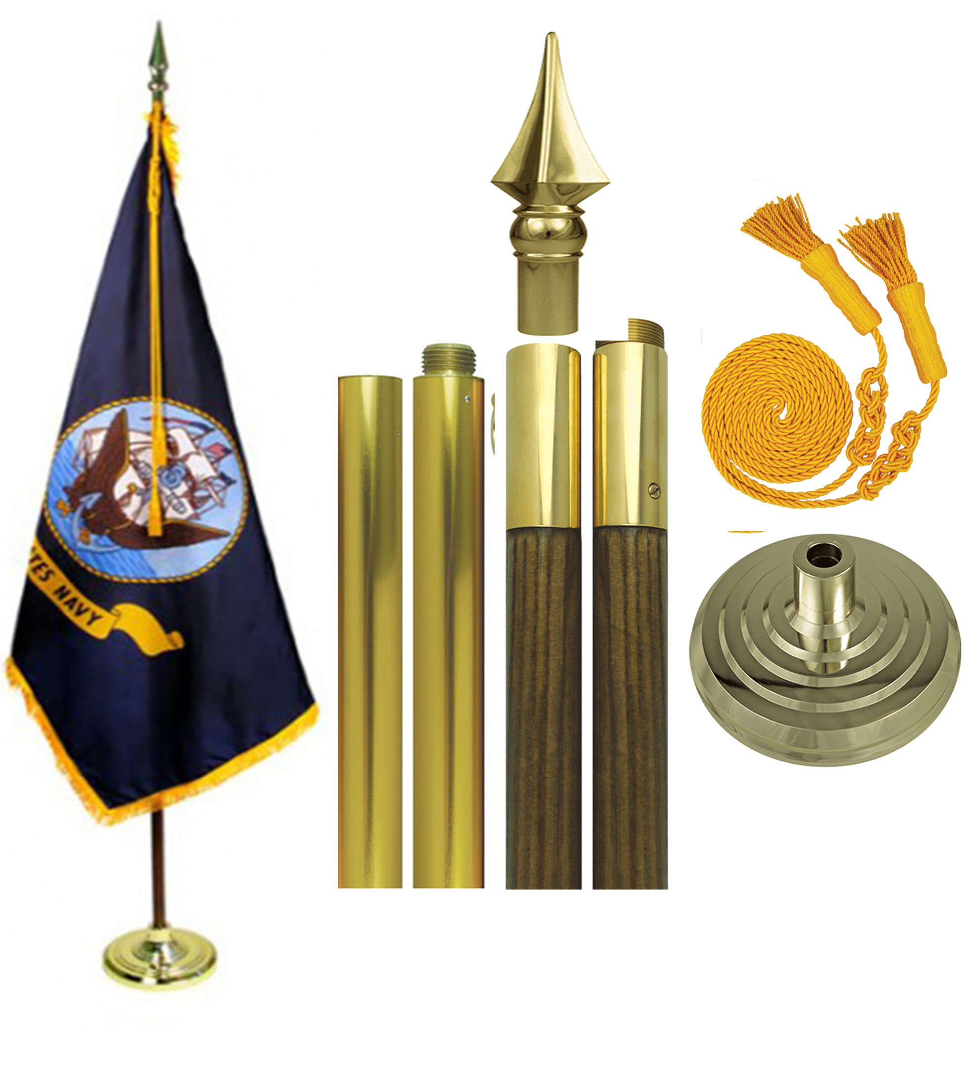 US Navy Parade Flag Set