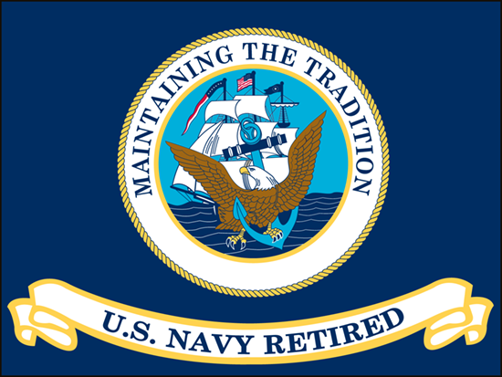 US Navy Retired Flags