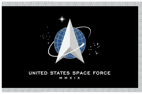 US Space Force Indoor Flags
