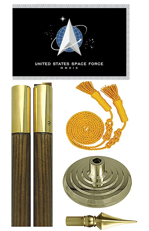 US Space Force Presentation Flag Set