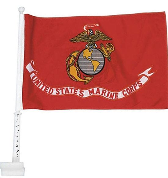 USMC Car Windows Flags