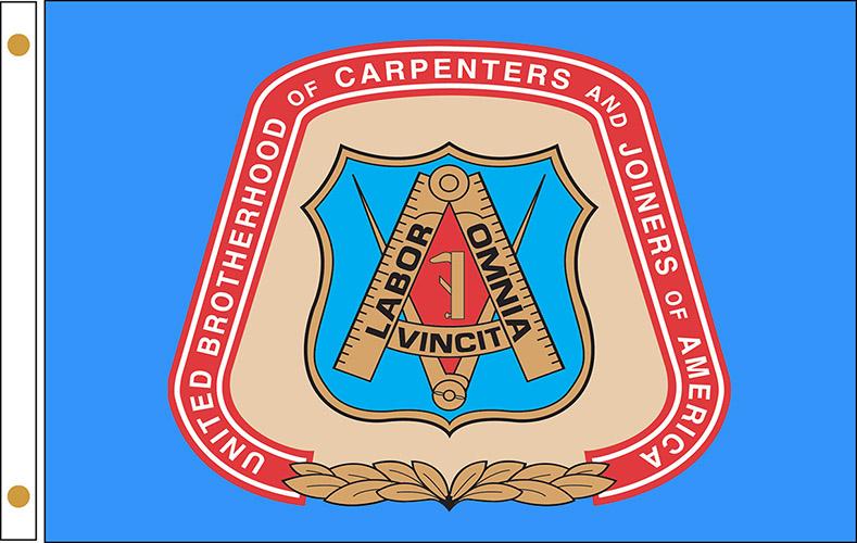 United Brotherhood of Carpenter's Flags