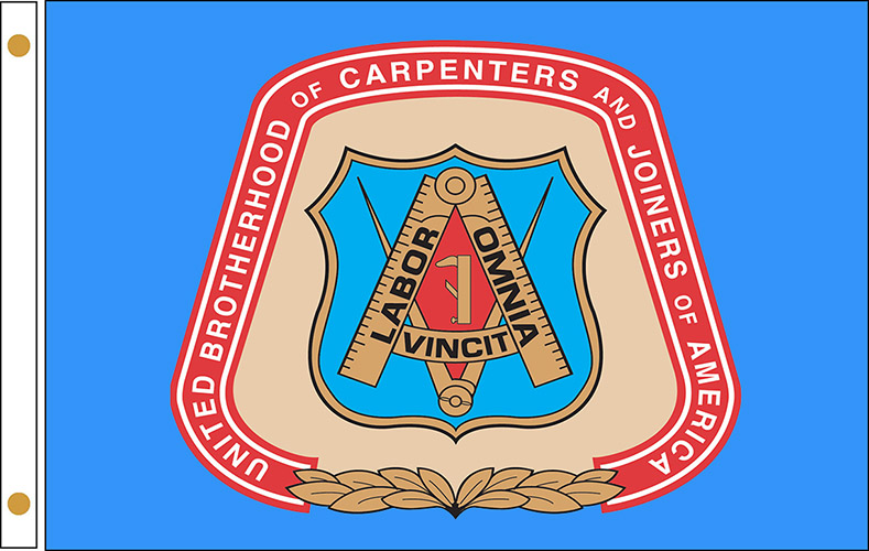 United Brotherhood of Carpenter's Flags