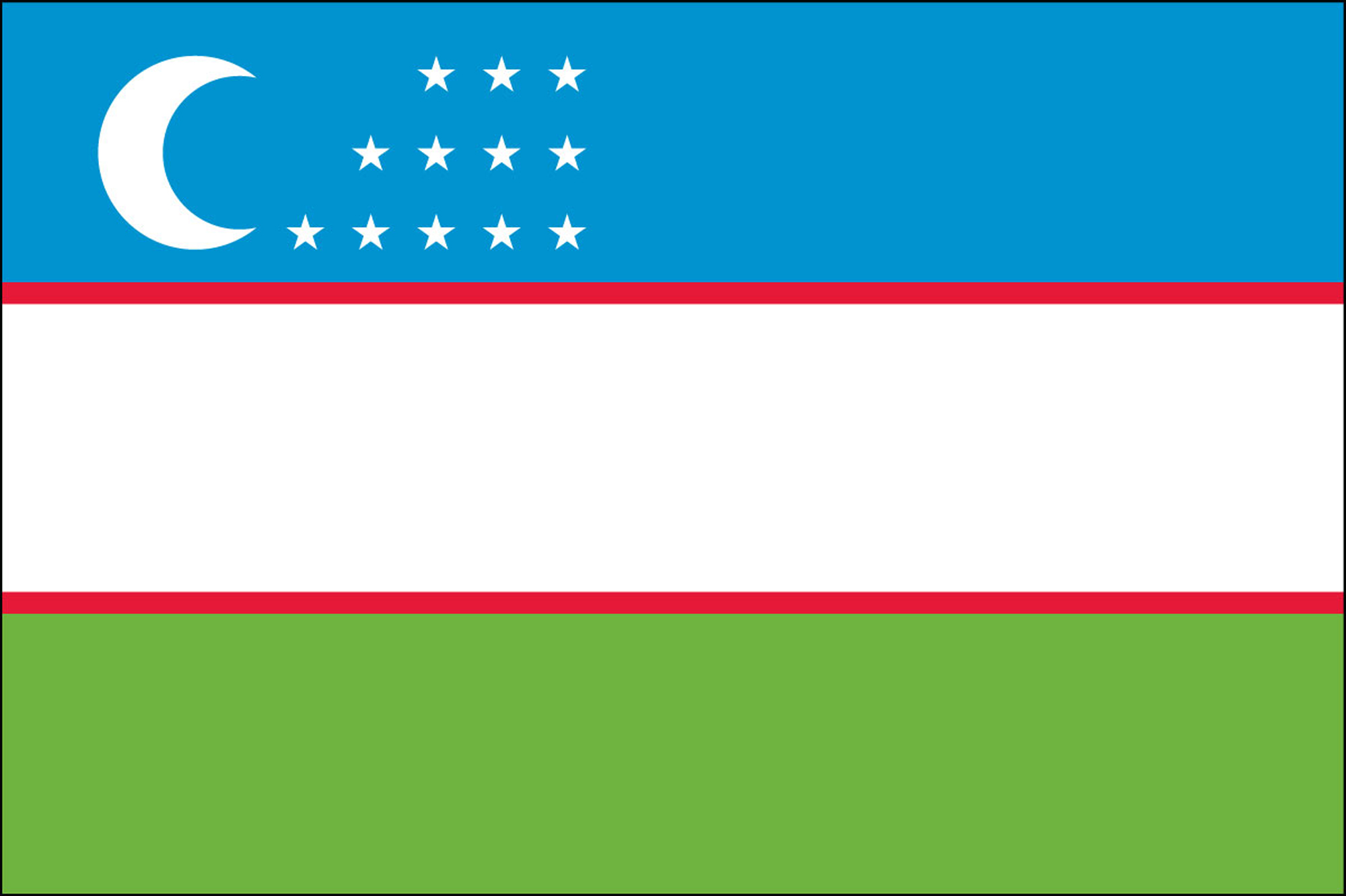 Uzbekistan Flags